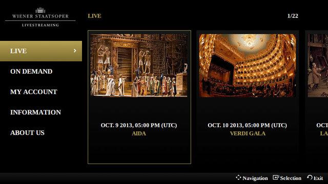 Wiedeńska Opera Państwowa na ekranie Samsung Smart TV
