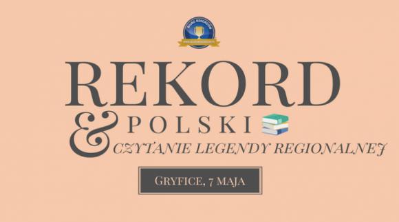 Rekordowe obchody Tygodnia Bibliotek w Gryficach LIFESTYLE, Książka - Z okazji obchodzonego 8 maja Dnia Bibliotekarza i Bibliotek, w Gryficach będzie bity Rekord Polski na najwięcej osób czytających legendę regionalną jednocześnie.